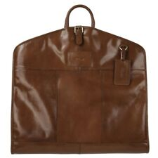 Ashwood Harper Leather Suit Carrier Chestnut