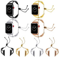 Womens New Stainless Steel Wrist Band Bangle Cuff Bracelet For Apple Watch 3/2/1