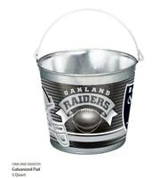 Oakland Raiders Metall Eimer verzinkt,NFL Football,Galvanized Tail,5 ltr.