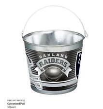 Oakland Raiders Metal Bucket Galvanized, Nfl Football, Galvanized Tail, 5 Ltr