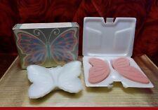 SEIFENSET   Wings of beauty  -- Seifenschale  Schmetterling  + 2  Seifen