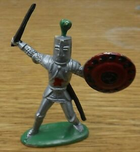 Vintage STARLUX 1970's, Medieval Knight, 54mm scale plastic. (c)