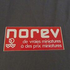 123F Autocollant Norev de Vraies Miniatures à des Prix Miniatures 12 X 5 cm