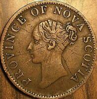 1840 NOVA SCOTIA HALF PENNY TOKEN COIN