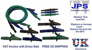 Kewtech Electrical Test Leads Probes Crocodile Clips Unfused with VAT Invoice z