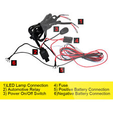 12V 40A Wiring Harness Realy ON OFF Switch LED Work Light Bar Driving Pod 2 Lead