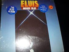 Elvis Presley-Moody Blue LP w/ 2 hype stickers on shrink blue vinyl
