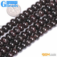 Natural Dark Red Garnet Rondelle Spacer Beads For Jewelry Making Free Shipping