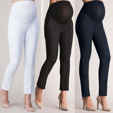 Maternity Pregnancy Trousers For Pregnant Women Pants Full Ankle Length Solid
