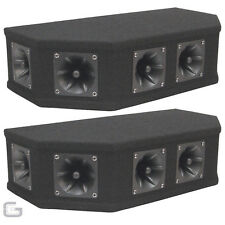 2x Soundlab Tweeter Array 50W Black Piezo Top Box Speaker DJ Disco PA Angled Cab