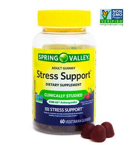 Spring Valley Ashwagandha Stress Support Vegetarian Gummies, 60 CT..01/2022