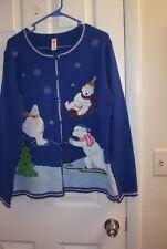 Holiday Cardigan Sweater, size XL , Seasonal Theme