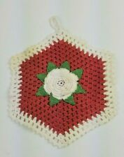 New listing Vintage Hand Crocheted Doilies Pot Holder Hot Pad Clean Without Stains