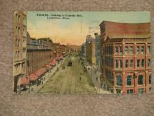 Essex St., Looking to Everett Mill, Lawrence, Mass., used vintage card