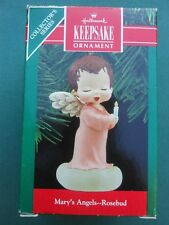 HALLMARK 1990 MARY'S ANGELS Rosebud 3rd in Series CHRISTMAS ORNAMENT-VGC+pt