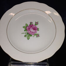 "KAHLA KONITZ GERMANY BREAD & BUTTER PLATE 6 5/8"" GOLD TRIM PINK ROSES"