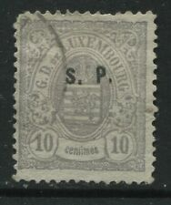 Luxembourg 1881 overprinted Official S.P. 10 centimes used