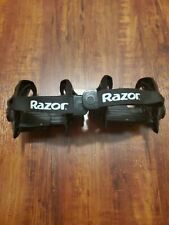 Razor Jetts Heel Wheels Heelys Adjustable Strap Onto Shoes Skates black