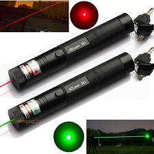 10 Miles Green Vert + Red Rouge 1mW Pointeur Laser Pointer Pen Visible Poutre