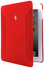 Ferrari Official  iPad Mini 1, 2 Genuine Leather Folio Cover Case FEF12FCPM2RE