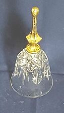 Antique Cut Glass / Crystal Bell with Siver Plated Handle