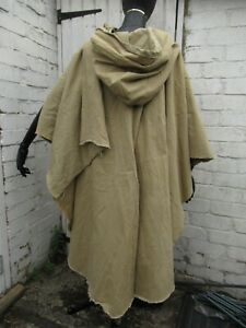 Nortman cape hooded Reenactment beige, black, khaki Vikings Medieval Celtic LOTR