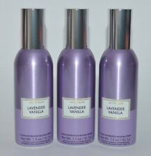3 BATH & BODY WORKS LAVENDER VANILLA CONCENTRATED ROOM SPRAY PERFUME MIST PURPLE