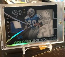 Barry Sanders 2015 Panini Black Gold Golden Ground Game Patch  SSP 4/5 Lions HOF