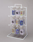 Counter Key Chain and Small Items Display Rack - 3 Tier 12 Single Peg (White)