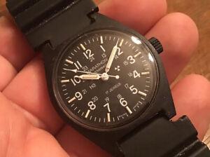 Rare Marathon MIL-W-46374F 34mm 17 Jewels Swiss Made Military Men's Watch Windup