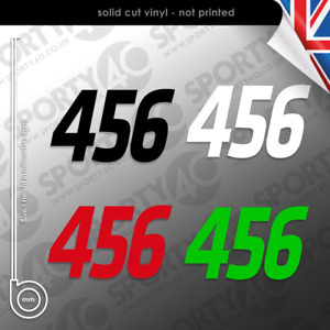 2x NUMBER Sticker Vinyl Decal SMALL Race Numbers Special Edition CC 5502-0420