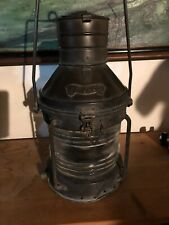 Copper Vintage ship nautical anchor lantern Beautiful patina Copper And Brass