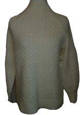 NWT Anthropologie XS Oversize Ivory Bia Alpaca Blend Sweater Chunky Knit Mock