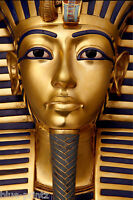 Tutankhamun gold egypt pharaohs pyramid statue art  print large photo