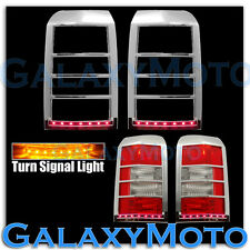Taillight+Brake+Turn Signal+LED Light Chrome Cover for 07-15 JEEP PATRIOT