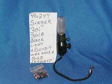 VINTAGE SINGER 301 301A SEWING MACHINE BLACK LIGHT ASSEMBLY BULB SCREWS
