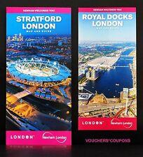 TFL - LONDON 2012 OLYMPICS - STRATFORD & ROYAL DOCKS LONDON MAP AND GUIDE - NEW
