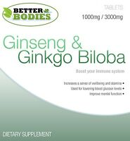 Ginkgo Biloba 3000mg And Korean Ginseng 1000mg High Quality Better Bodies