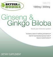 Ginkgo Biloba 3000mg And Korean Ginseng 1000mg High Quality Better Bodies