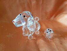 """2 Glasfiguren, Kristallfiguren """"Hund"""" klein und groß    (Art. K12)"""