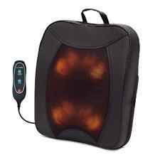 Back Pleaser Massage Shiatsu Cushion Heat Rolling Chair Lounger Kneading Plus