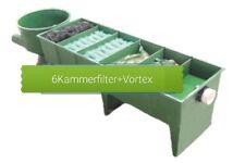 6 Kammerfilter mit Vortex Filtermaterial Reihenfilter bis 60.000 Liter Teich Koi