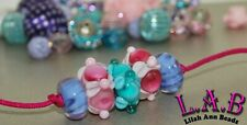 5 Piece Set of Fine Hand-Crafted Lilah Ann Italian Lampwork Glass Beads FW115