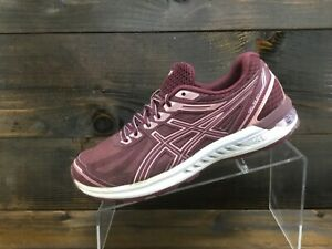 Asics Gel Sileo Womens Maroon Running Casual Shoes Ladies Size 8