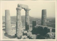 Sicile, Agrigente, La Vallée des Temples, Colonnes du Temple de Juno Lacinia, ca