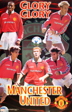 Manchester United FC GLORY GLORY 1999 POSTER - Beckham, Giggs, Scholes, Neville+