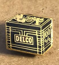 Vintage Delco 6 Volt Battery Advertising Pin Tie Tack Promotional