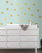 24 New GOLD FOIL HEARTS WALL DECALS Peel and Stick Stickers Heart Decor