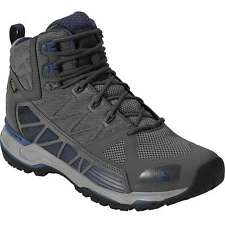 NEW NORTH FACE MENS 9 SHOES ZINC GREY BLUE ULTRA GORE-TEX SURROUND MID HIKING