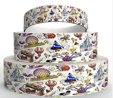 By the Yard 1 Inch Printed Disney World Attractions Grosgrain Ribbon...Lisa